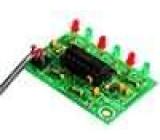Elektronická stavebnice světelný efekt 6 LED 9VDC