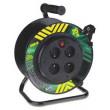 PVC prodlužovací kabel na bubnu-4 zásuvky 25m pevný střed