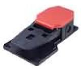 Přepínač nožní 1-polohové SPST-NO + SPST-NC 6A/250VAC IP53
