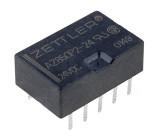 AZ850P2-24 Relé elektromagnetické DPDT Ucívky:24VDC 0,5A/125VAC 1A 50VA