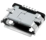 Zásuvka USB B micro SMT 5 PIN V USB 2.0 niklovaný zlacený