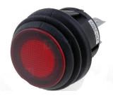 Kulatý vypínač SPST ON-OFF 16A červený