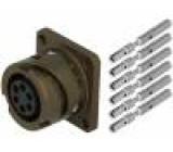 Konektor vojenský VG95234 zásuvka zásuvka PIN:6 s kontakty