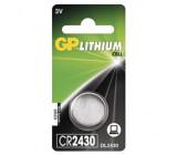 Lithiová knoflíková baterie GP CR2430, 1 ks v blistru