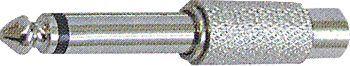 Redukce JACK 6,3 mono/CINCH(RCA) zdířka kovová