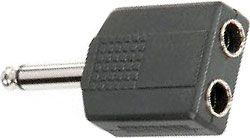 Redukce Jack 6,3 mono/2x zdířka 6,3mm mono