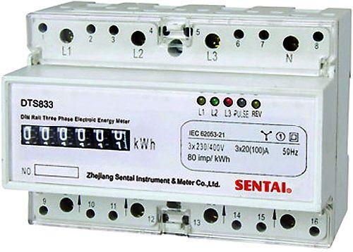 Elektroměr 3 fázový analogový na DIN lištu
