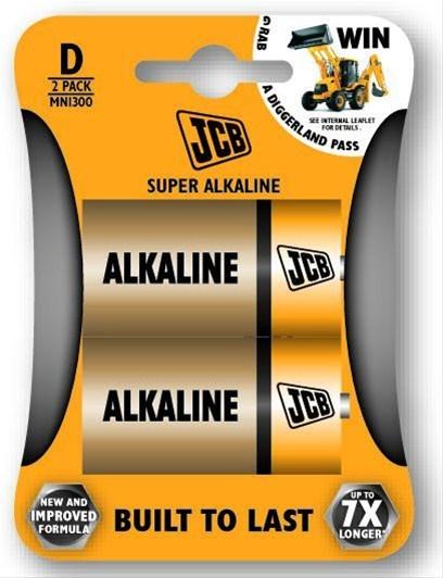 JCB SUPER alkalická baterie LR20, blistr 2 ks
