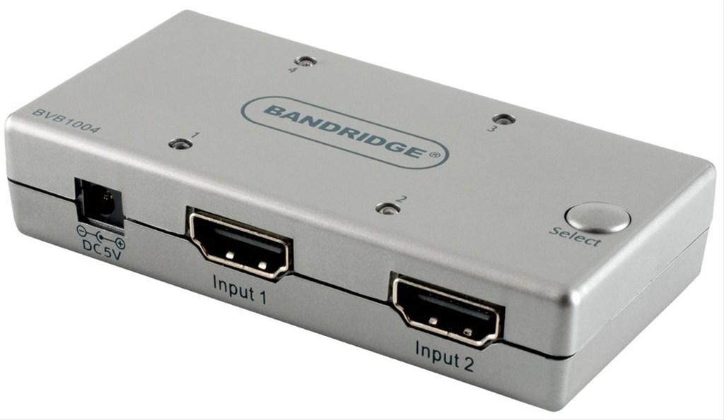 Bandridge 4-vstupový HDMI přepínač BVB1004