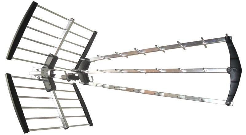 SOLIGHT venkovní DVB-T anténa, 17dB, UHF, 21. - 60. kanál, LTE/4G filtr