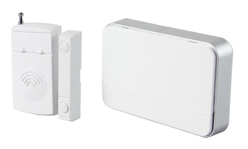 SOLIGHT bezdrátový hlásič pohybu/gong, externí senzor - magnet, napájení ze zásuvky, bílý
