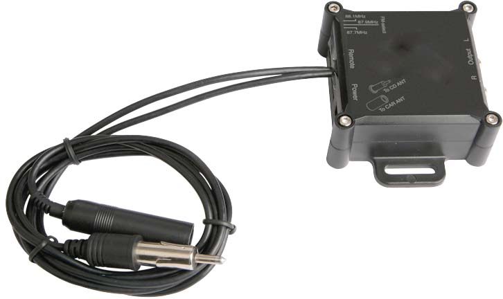 FM modulátor do ant.vstupu s konektorem DIN
