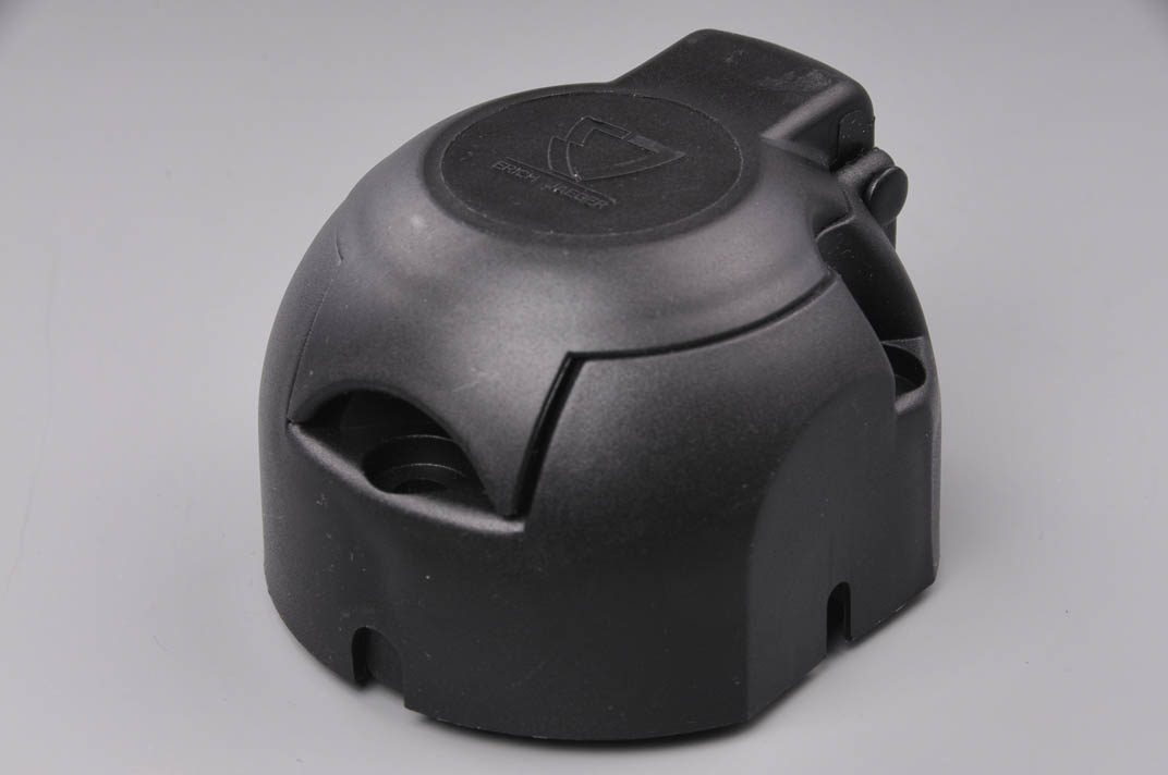 ERICH JAEGER zásuvka 12V 7P plastová s mikrospínačem a těsněním (boční vývod pravý)