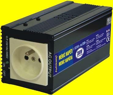 repasovaný měnič 24V DC na 230V AC 300W s USB trvale