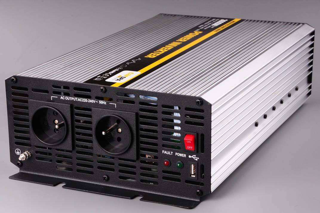 CARSPA měnič napětí z 12V DC na 230V AC 3000W trvale