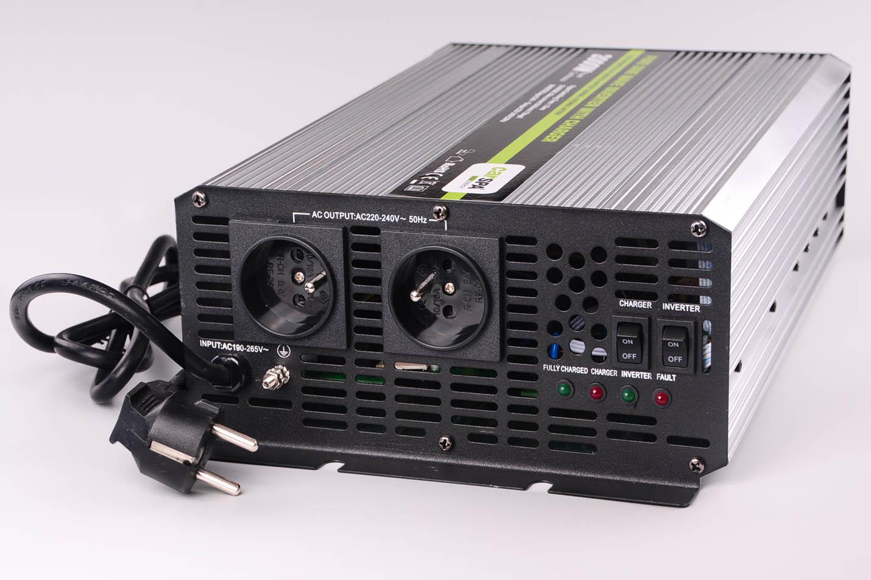 CARSPA měnič+dobíječka z 24V DC na 230V AC 2000W sinus