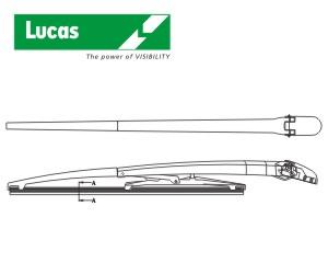 stěrač zadní standard s ramenem, typ E - 14/350mm