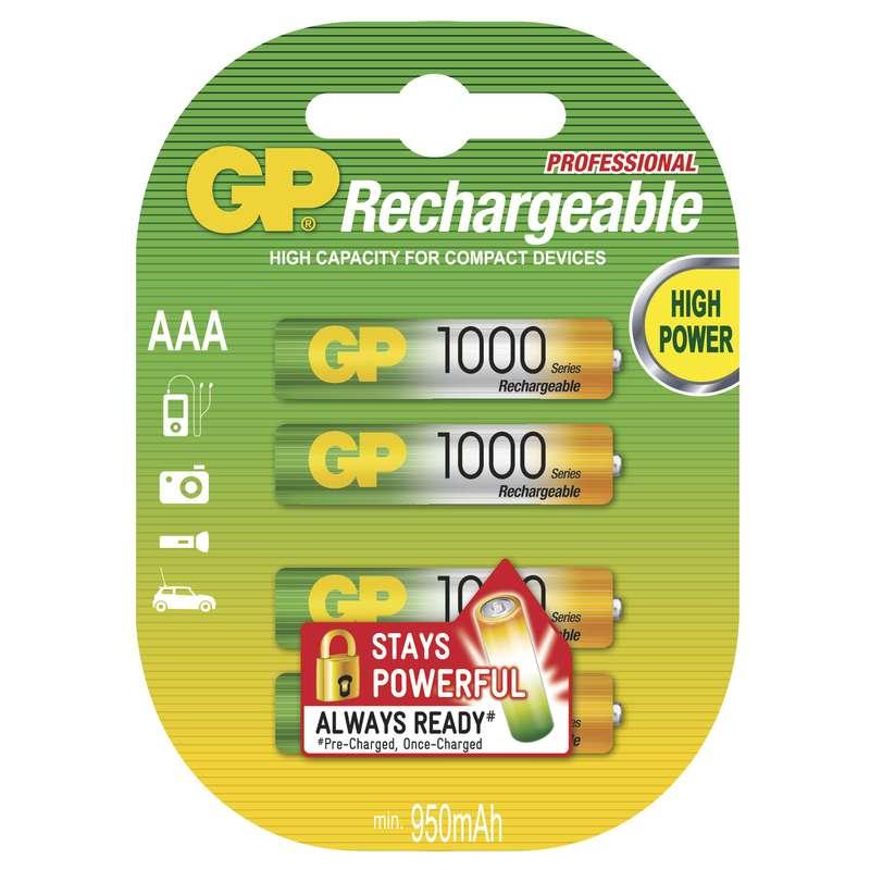 GP BATTERIES Nabíjecí baterie GP NiMH 1000 HR03 (AAA), blistr