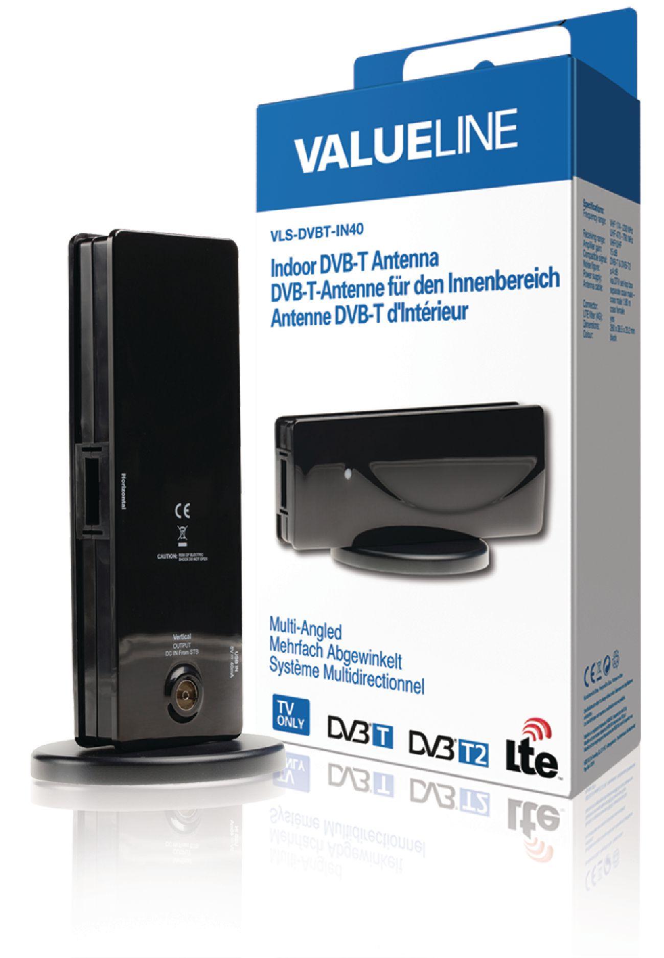 VALUELINE Pokojová DVB-T anténa s nastavitelným sklonem, 15 dB