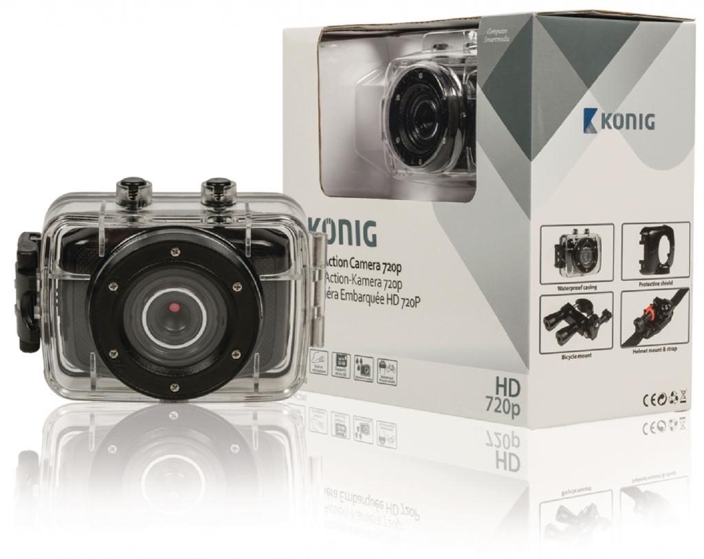 KoNIG Akční HD kamera 720p, vodotěsná