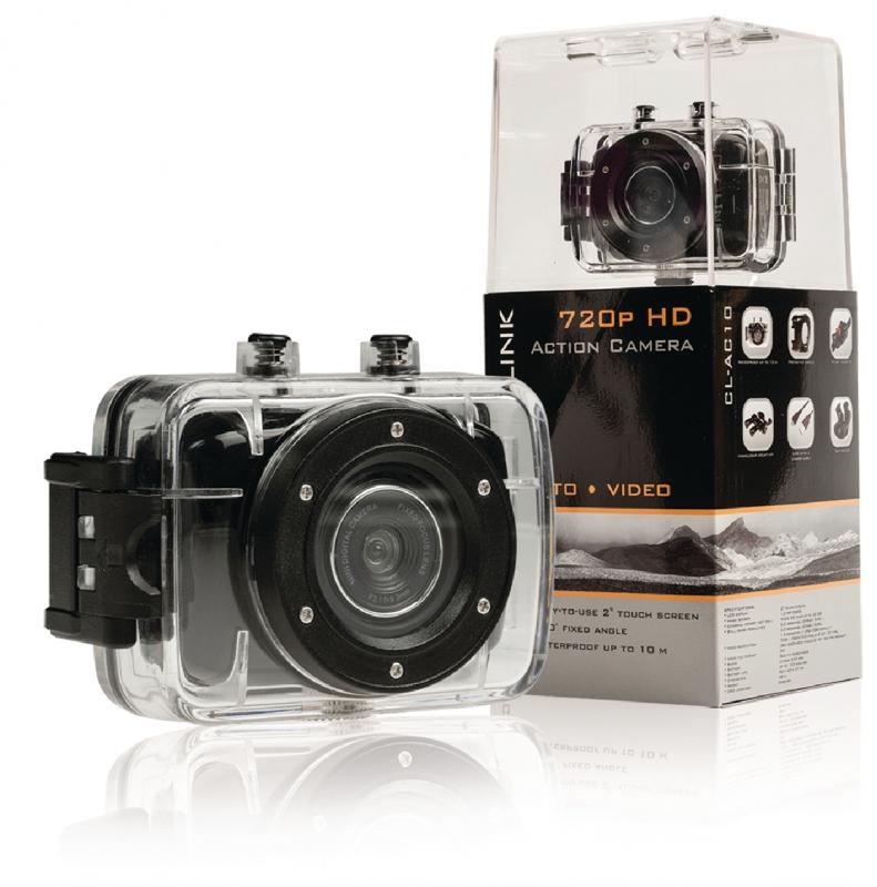 CAMLINK Akční HD kamera 720p s 2 dotykovým displejem