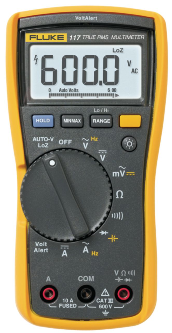 FLUKE Digitální multimetr FLUKE 117 TRMS AC 6000 číslic 600 VAC 600 VDC 10 ADC