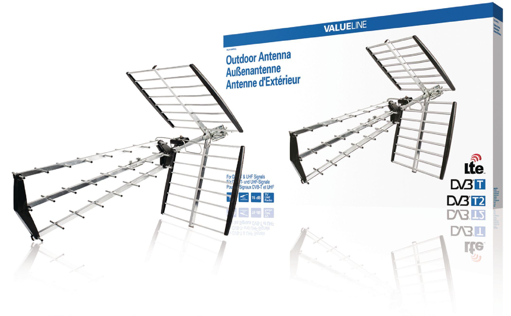 VALUELINE Venkovní DVB-T a UHF anténa, 15 dB