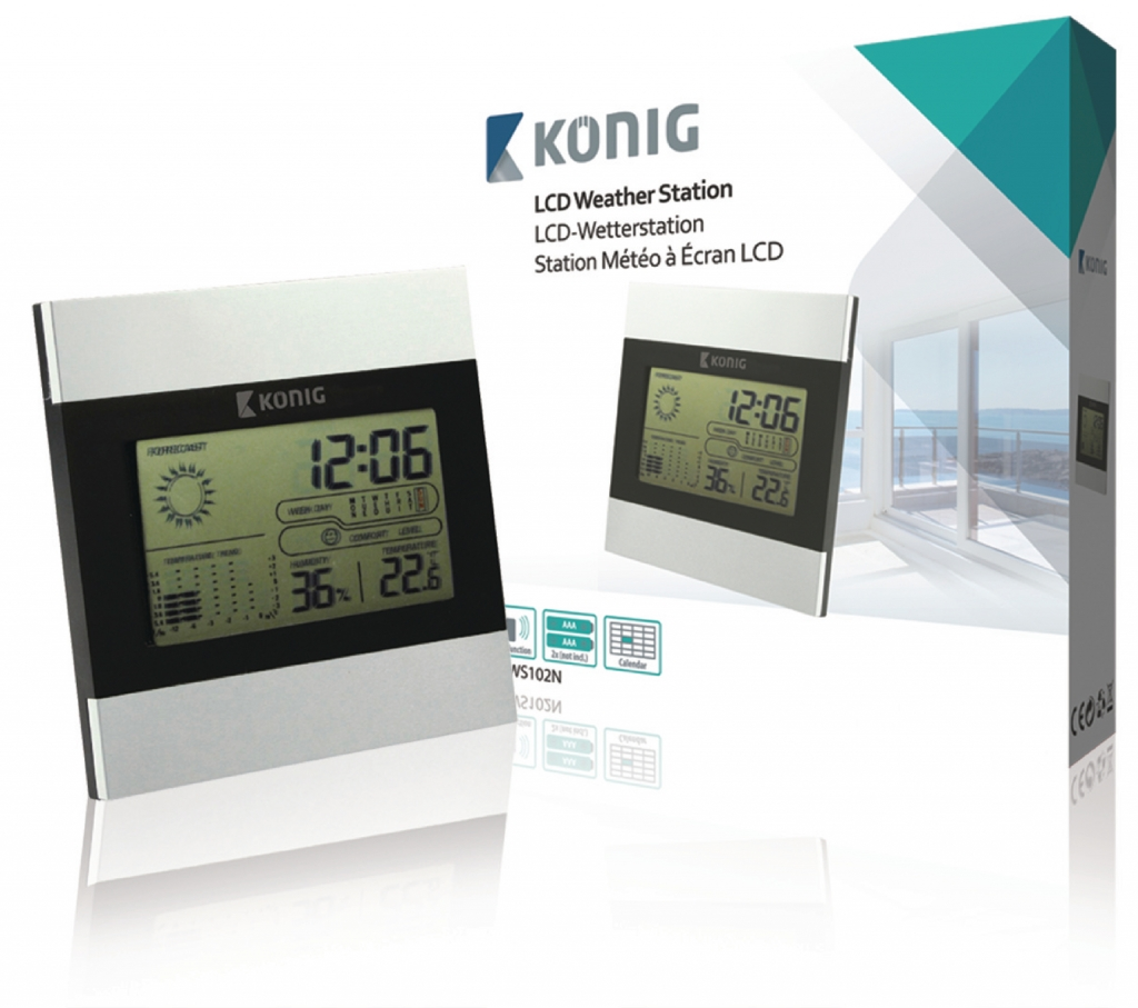KoNIG LCD hodiny a meteostanice