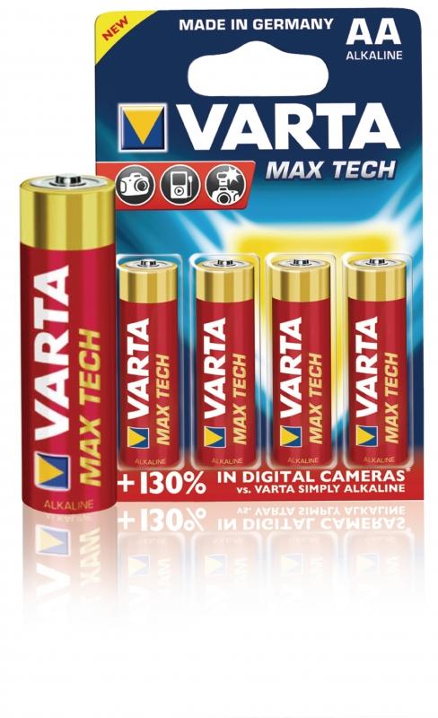 VARTA Baterie 1.5v lr06,aa alkalická varta max tech - 4ks