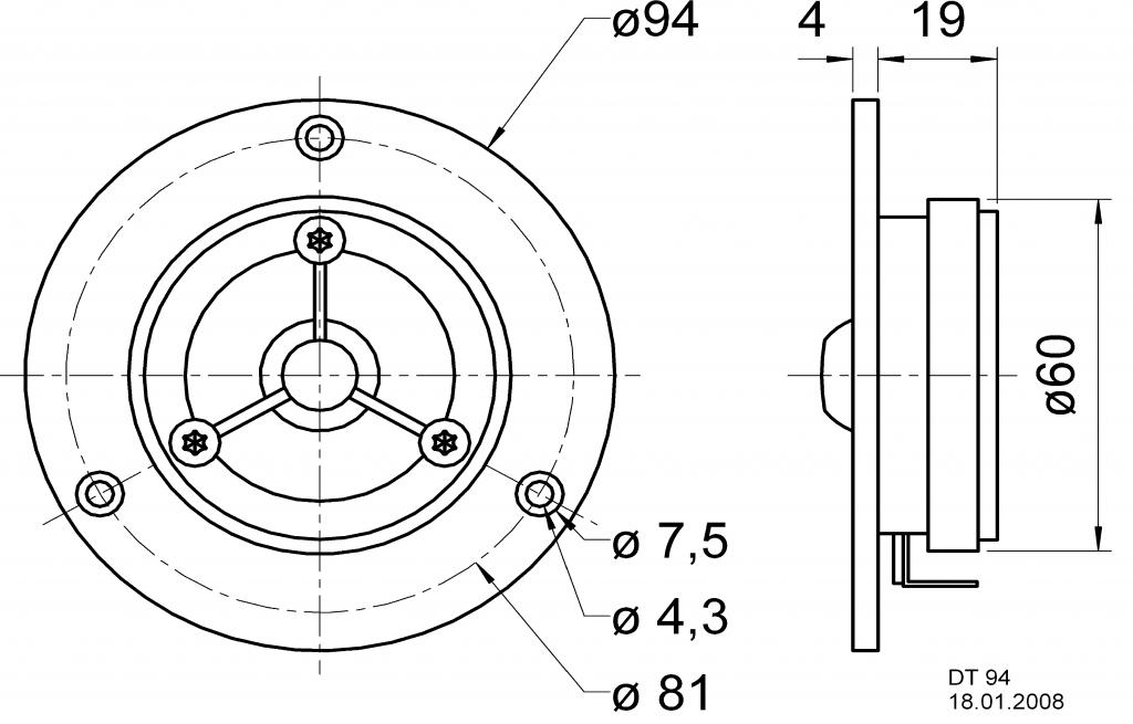 VISATON Výškový reproduktor 20 mm (0.8)