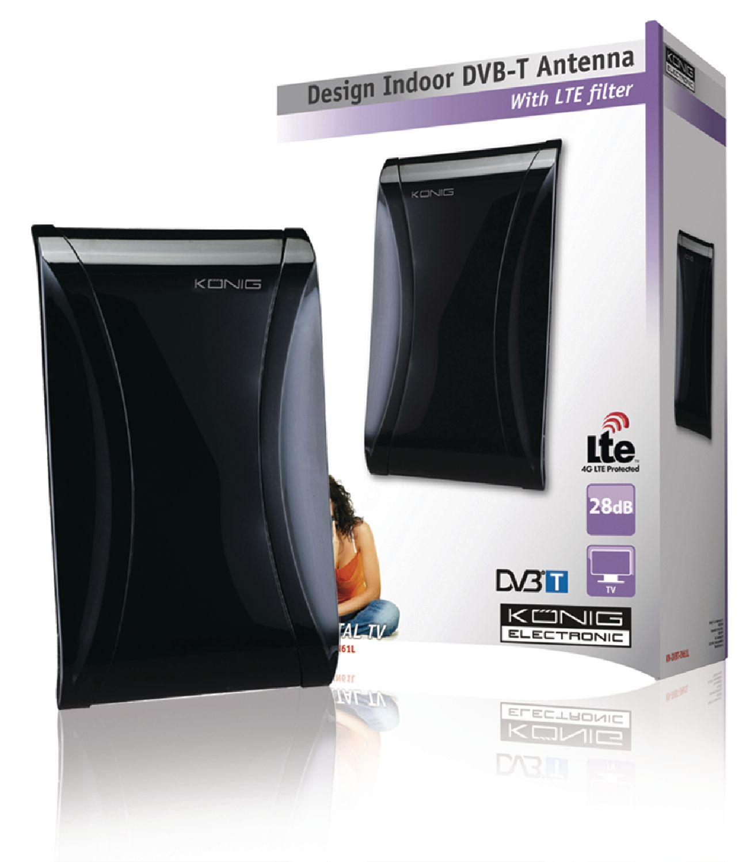KoNIG Designová interiérová DVB-T anténa s LTE filtrem