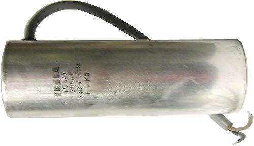 200uF/230V~ TC547 motorový rozběhový kondenzátor 50x150mm