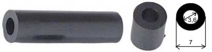 Distanční sloupek plastový KDR10 3,6/7mm, v=10mm