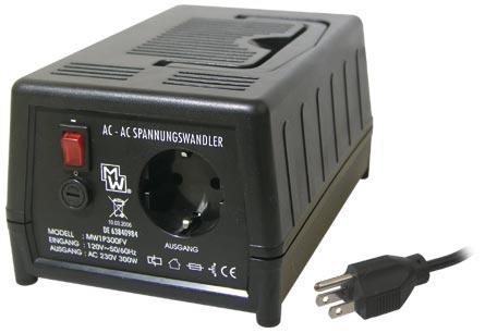 MINWA Měnič napětí 110V na 230V AC MW 1P300 / MINWA