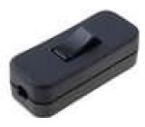 Kolébkový kabelový vypínač ON-OFF 2 polohy černý