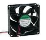 Ventilátor 24VDC 80x80x25mm 76,5m3/h 38dBA kuličkové 1,9W