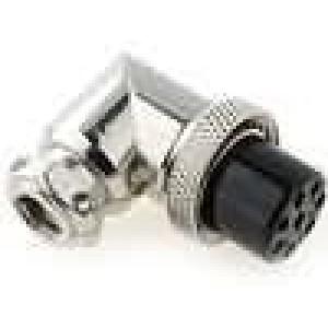 Zástrčka mikrofonní zásuvka 8PIN úhlový na kabel