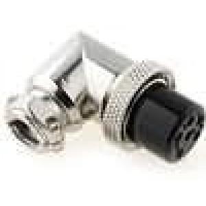 Zástrčka mikrofonní zásuvka 6PIN úhlový na kabel
