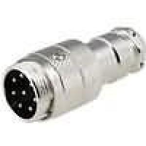 Zástrčka mikrofonní vidlice 8PIN přímý na kabel