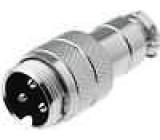 Zástrčka mikrofonní vidlice 2PIN přímý na kabel