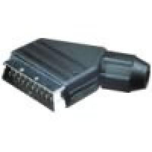 Konektor SCART zástrčka vidlice úhlový na kabel