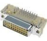 Konektor DVI-I zásuvka 29 PIN povrch zlacený úhlové 90° THT