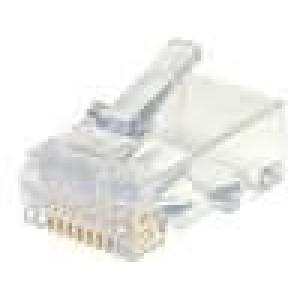 Konektor RJ45 44915 zástrčka 8 PIN Kat:6 zlacený na kabel