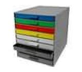 Stacionární sestava se zásuvkami 9 zásuvek polystyrén šedá 265 x 355 x 305mm