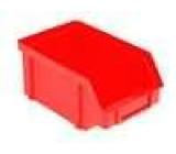 Zásobník dílenský červená polypropylén 119x77x56mm