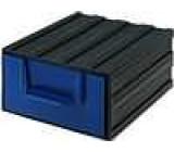 Modul se zásuvkou polypropylén 94x115x51mm modrý