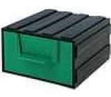 Modul se zásuvkou polypropylén 94x115x51mm zelený