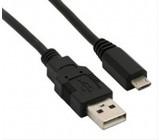 USB kabel, USB 2.0 A konektor - USB B micro konektor, sáček, 1m