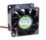 Ventilátor 12VDC 60x60x38mm 95,99m3/h 56dBA kuličkové
