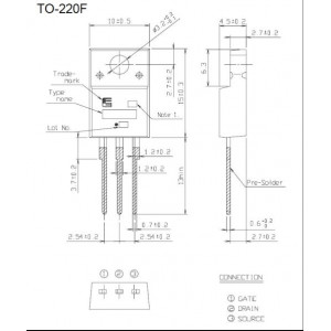 2SK3469 N FET 500V/12A 50W TO220F